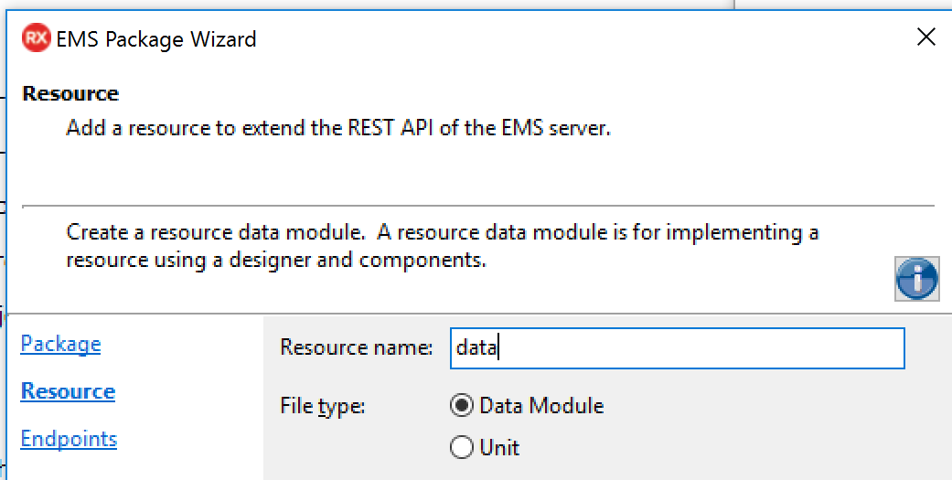 RAD Server EMS Package to get data from a remote database through a