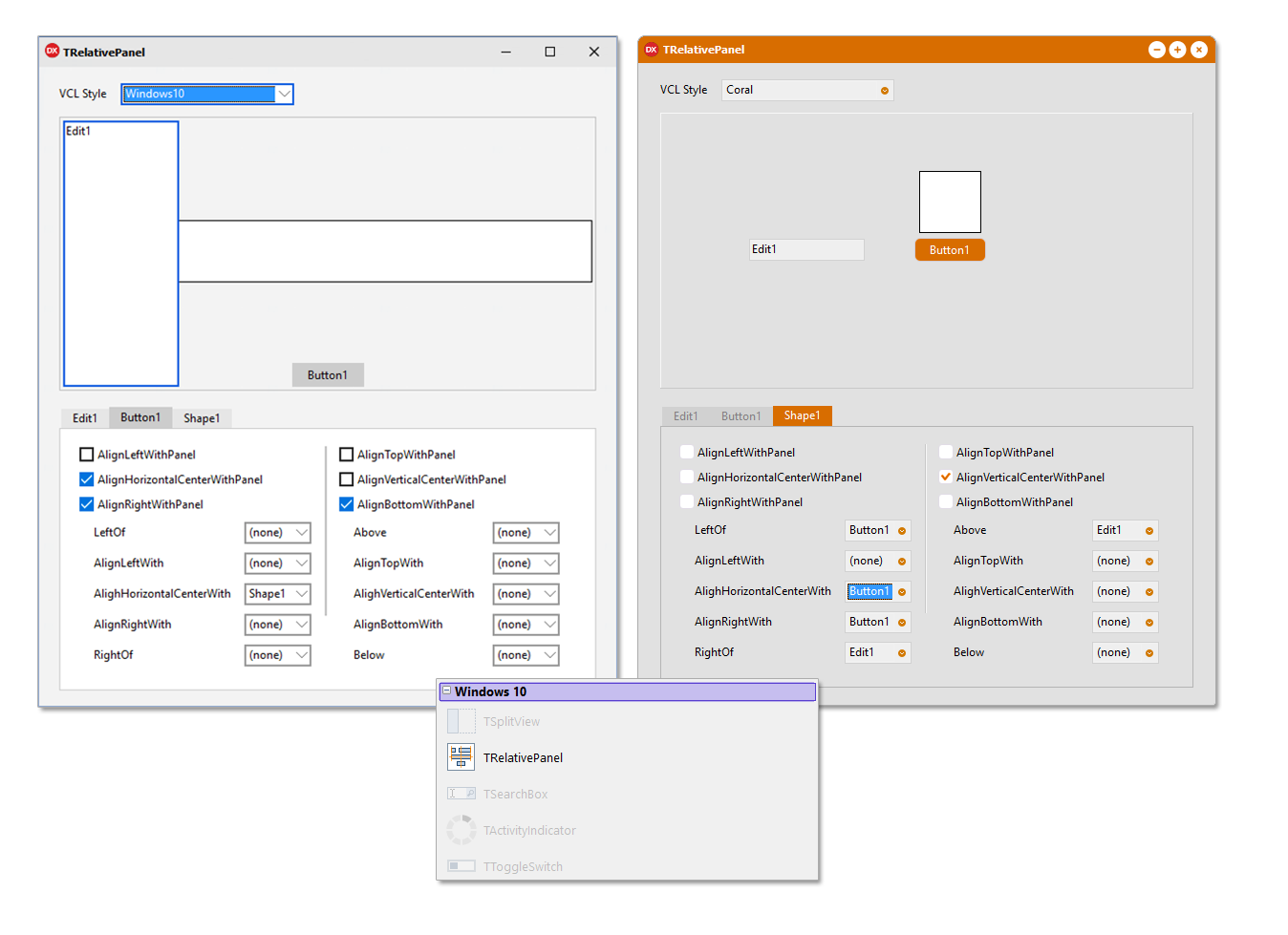 Getting Started with the new Windows 10 VCL UI Controls in RAD