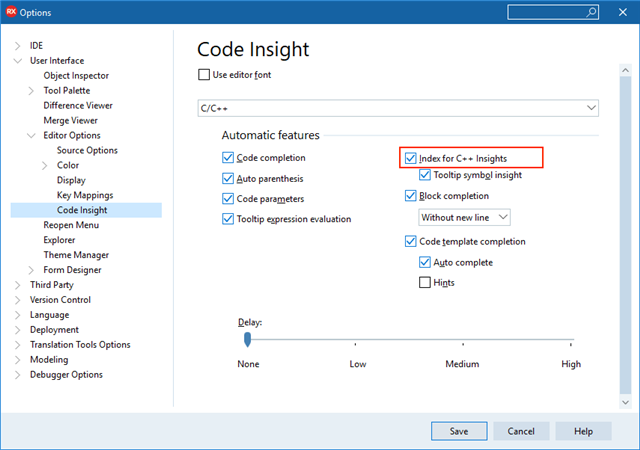New in 10 3 2: C++ Code Insight Features and Improvements