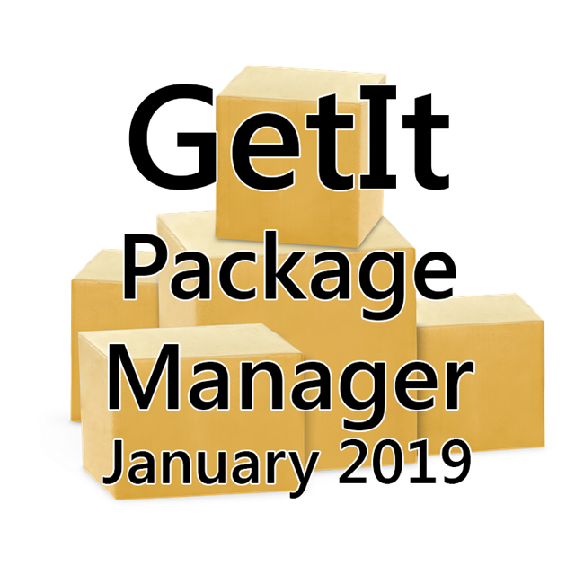 January 2019 GetIt Package Manager Rerpot