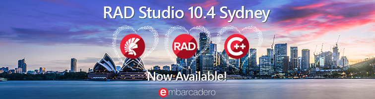 RAD Studio 10.4 Sydney is Now Available